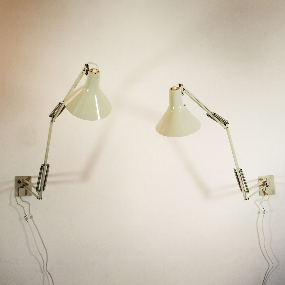 Wall Mounted Adjustable Lamps By Jac Jacobsen For Luxo, Set Of 2