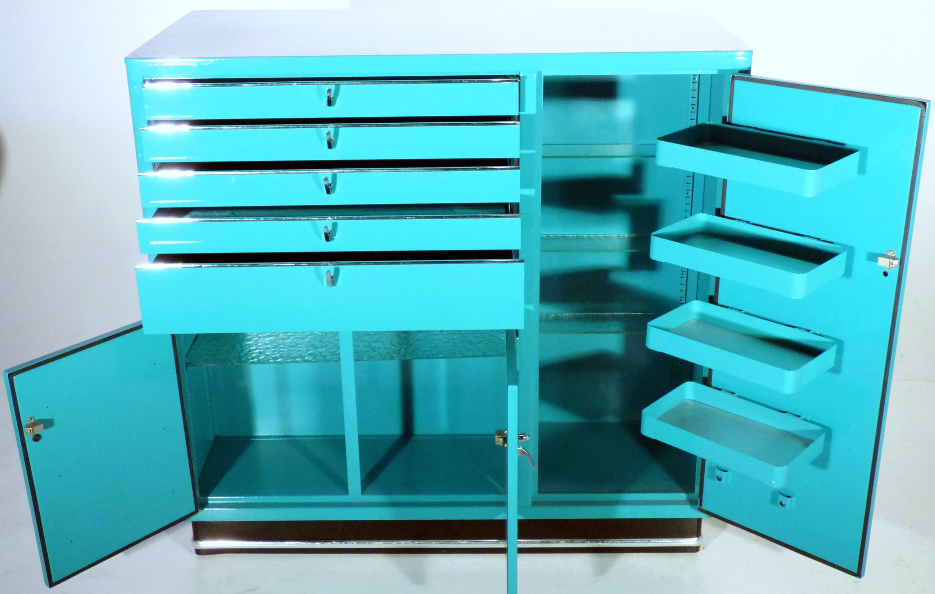 Armoire 224 Pharmacie Vintage Turquoise Par Karl Baisch En