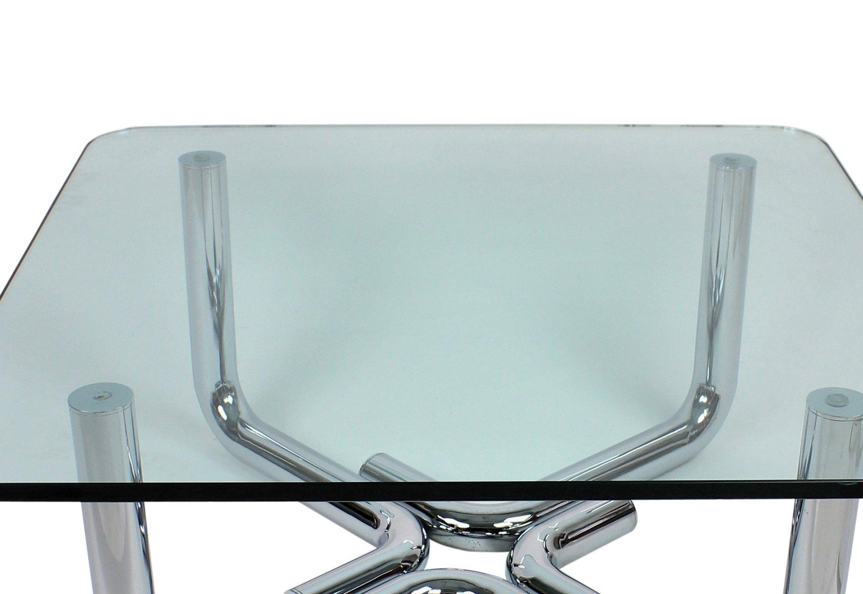 italienischer beistelltisch aus glas 1960er bei pamono kaufen. Black Bedroom Furniture Sets. Home Design Ideas