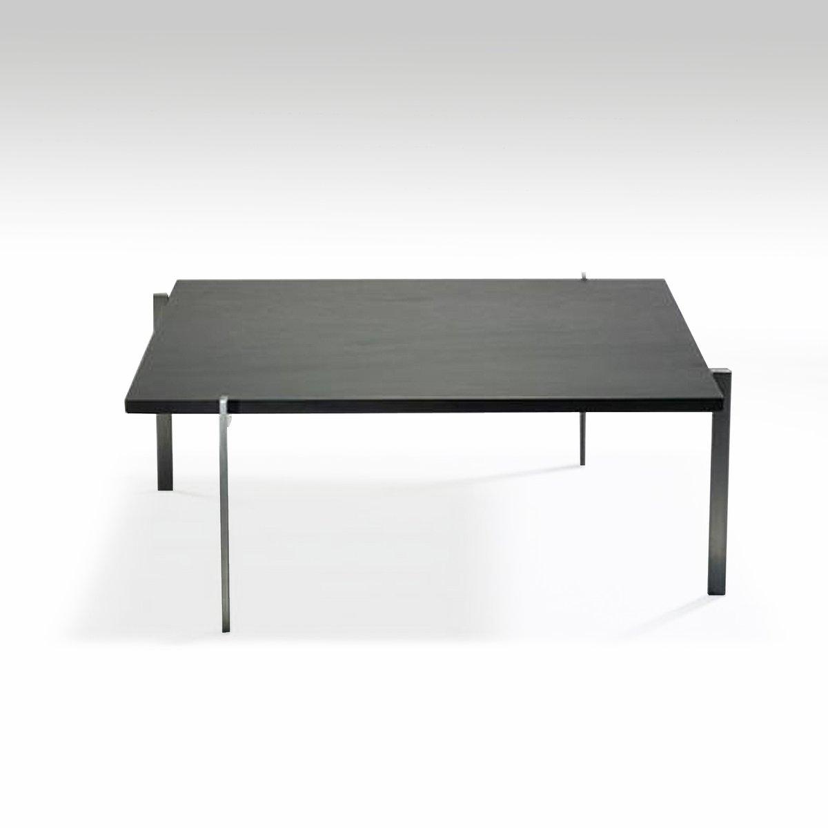 table basse pk61 en ardoise par poul kjaerholm pour e kold christensen en vente sur pamono. Black Bedroom Furniture Sets. Home Design Ideas