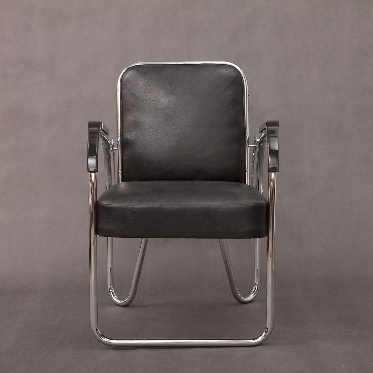 Klappbarer bauhaus stuhl von ds staal 1930er bei pamono for Bauhaus stuhl