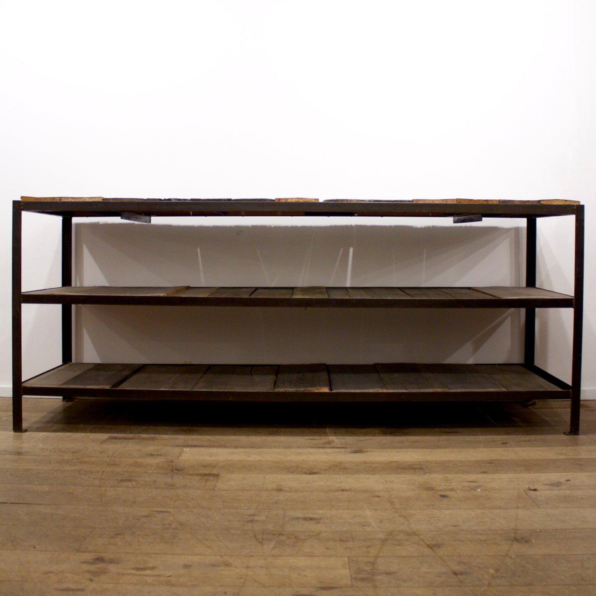 franz sisches industrie regal aus eisen bei pamono kaufen. Black Bedroom Furniture Sets. Home Design Ideas