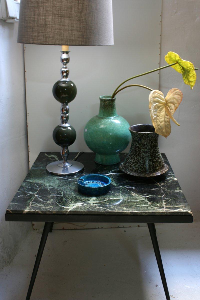 spanischer beistelltisch aus marmor und eisen 1950er bei pamono kaufen. Black Bedroom Furniture Sets. Home Design Ideas