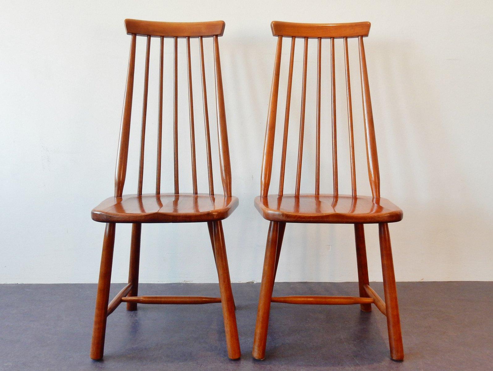 chaises vintage en bois massif set de 2 en vente sur pamono. Black Bedroom Furniture Sets. Home Design Ideas