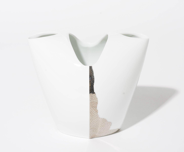 deutsche wei e tusca vase aus porzellan von lino sabattini f r rosenthal 1980er bei pamono kaufen. Black Bedroom Furniture Sets. Home Design Ideas