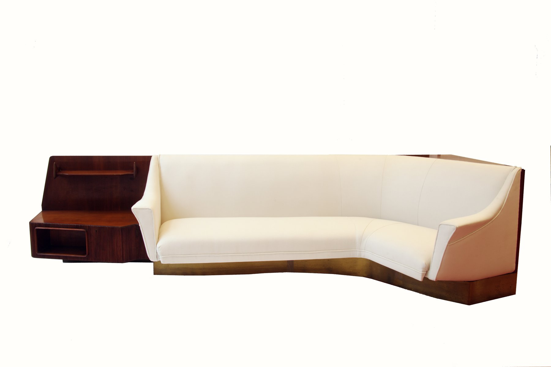 Vintage Curved Conversation Sofa And Shelves, 1940s For Sale At Pamono