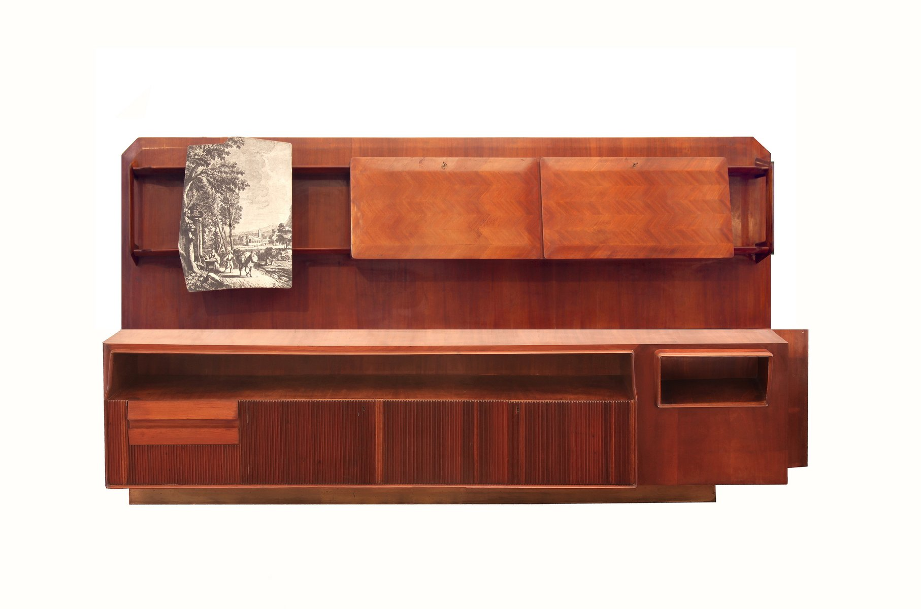antique mahogany large home office unit. Large Mahogany And Maple Wall Unit Bookcase, 1940s Antique Home Office