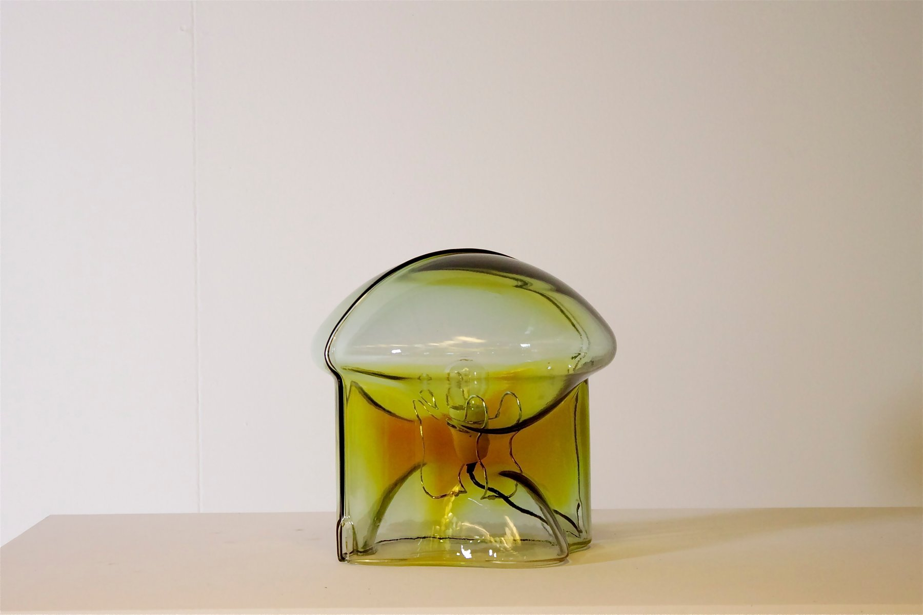 italienische medusa tischlampe aus glas von umberto riva f r veart bei pamono kaufen. Black Bedroom Furniture Sets. Home Design Ideas