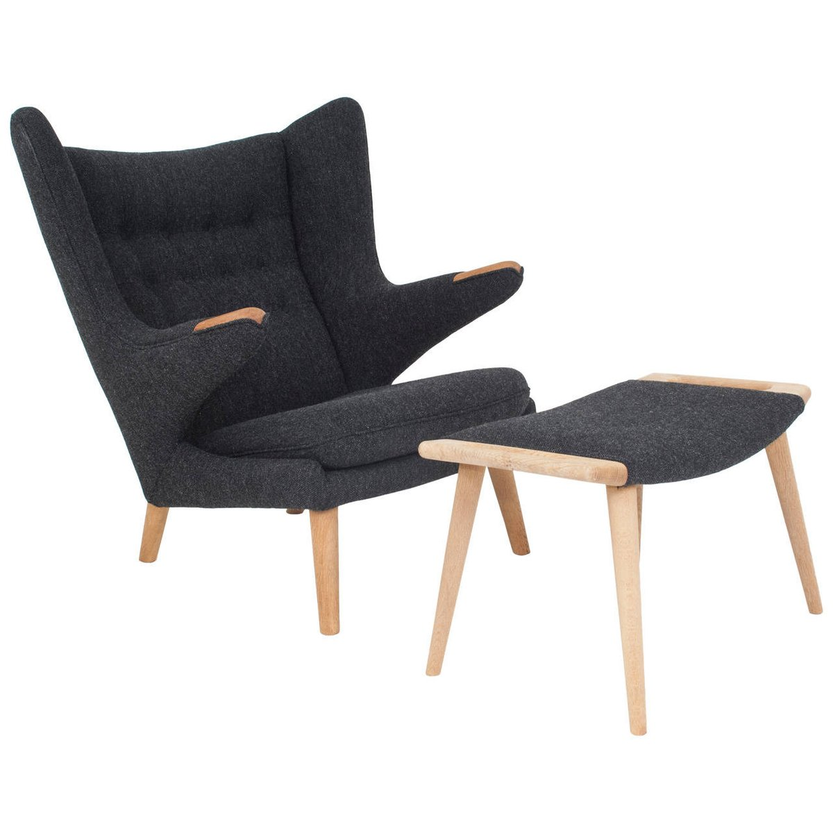 Danish Papa Bear Chair and Ottoman by Hans J Wegner for AP Stolen, 1951 for sale at Pamono