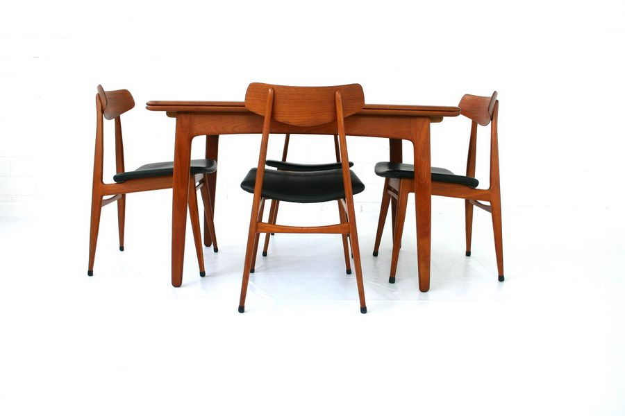 German Teak Dining Chairs From Habeo 1960s Set Of 4