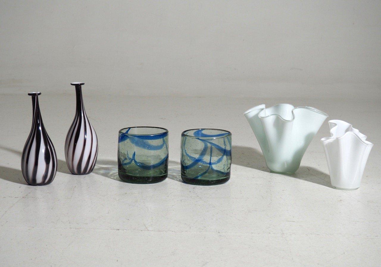 Vintage glass vases set of 6 for sale at pamono vintage glass vases set of 6 floridaeventfo Image collections
