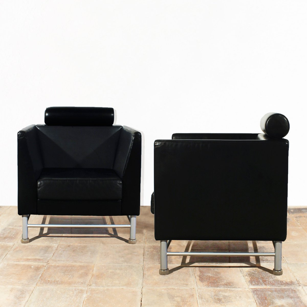 Eastside Lounge Chairs by Ettore Sottsass for Knoll, 1980s, Set of ... for Ettore Sottsass Sofa  110ylc