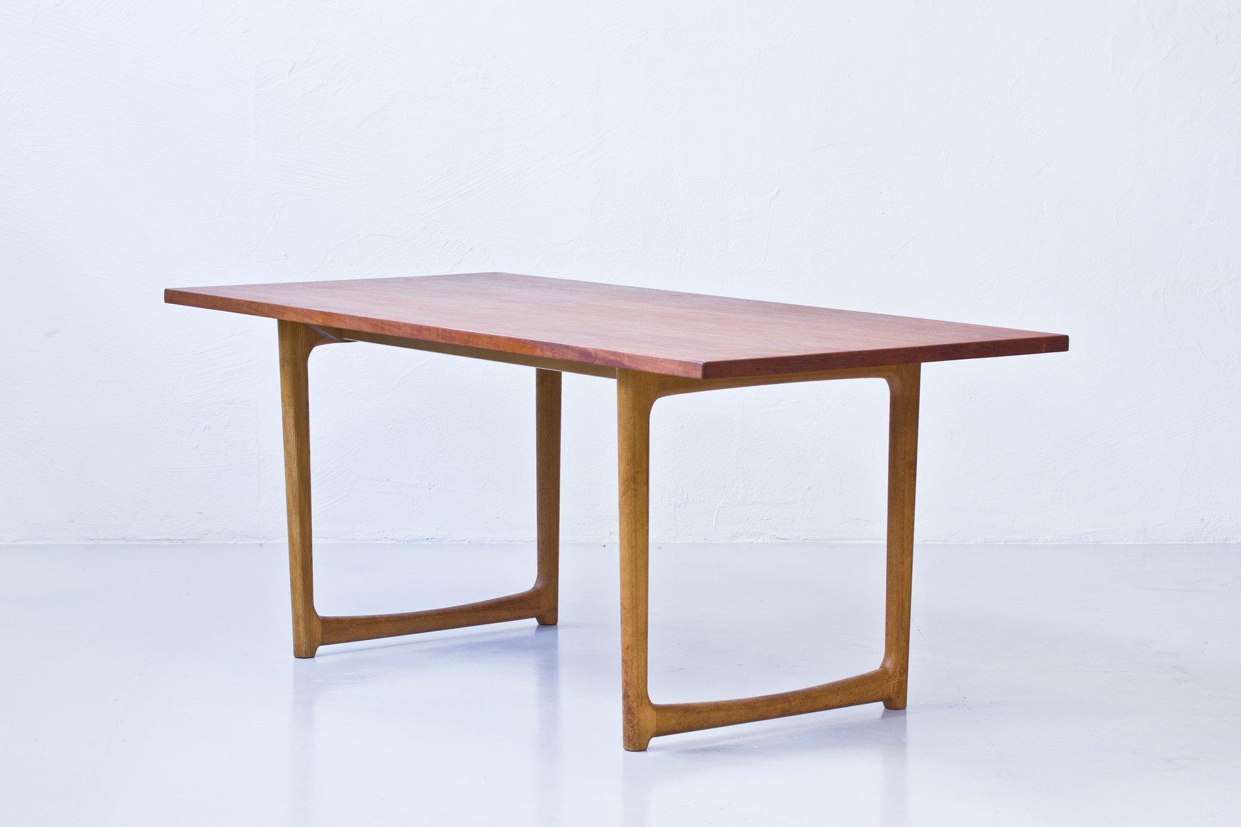 d nischer esstisch aus eichenholz teak bei pamono kaufen. Black Bedroom Furniture Sets. Home Design Ideas
