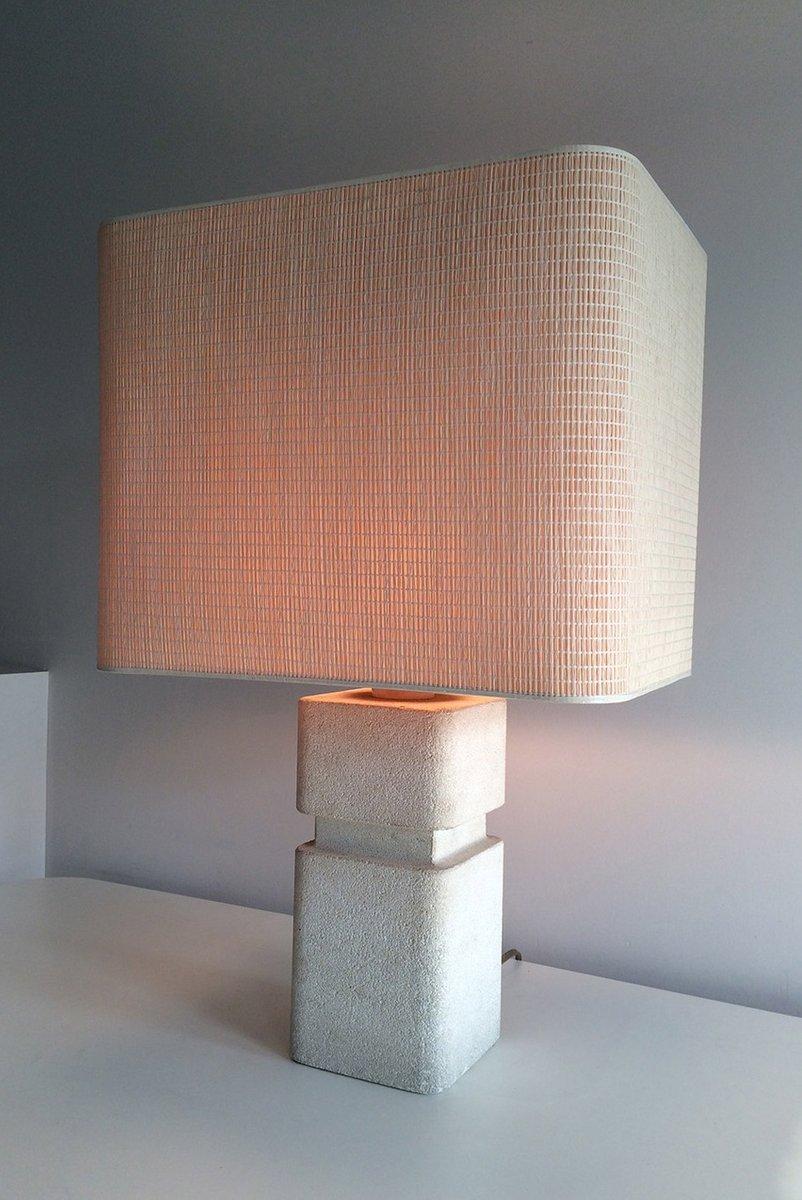 aufgearbeitete tischlampe aus stein 1970er bei pamono kaufen. Black Bedroom Furniture Sets. Home Design Ideas