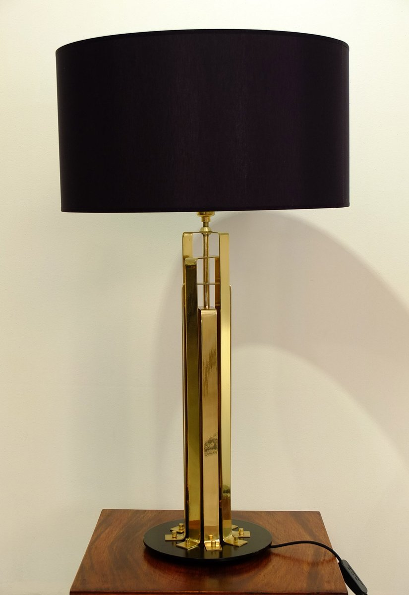 Large french brass table lamp 1960s for sale at pamono large french brass table lamp 1960s aloadofball Choice Image