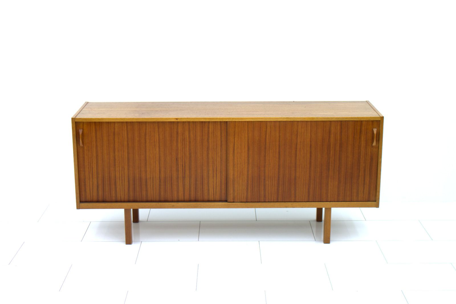 Swedish Teak Sideboard with Sliding Doors, 15s for sale at Pamono