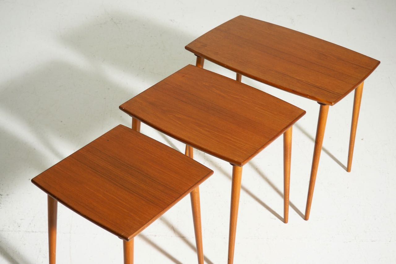 tables gigognes en teck, danemark, 1960s en vente sur pamono
