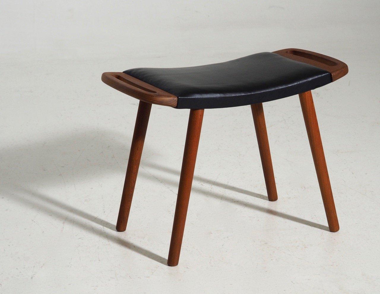 Danish Teak Stool, 1960s for sale at Pamono
