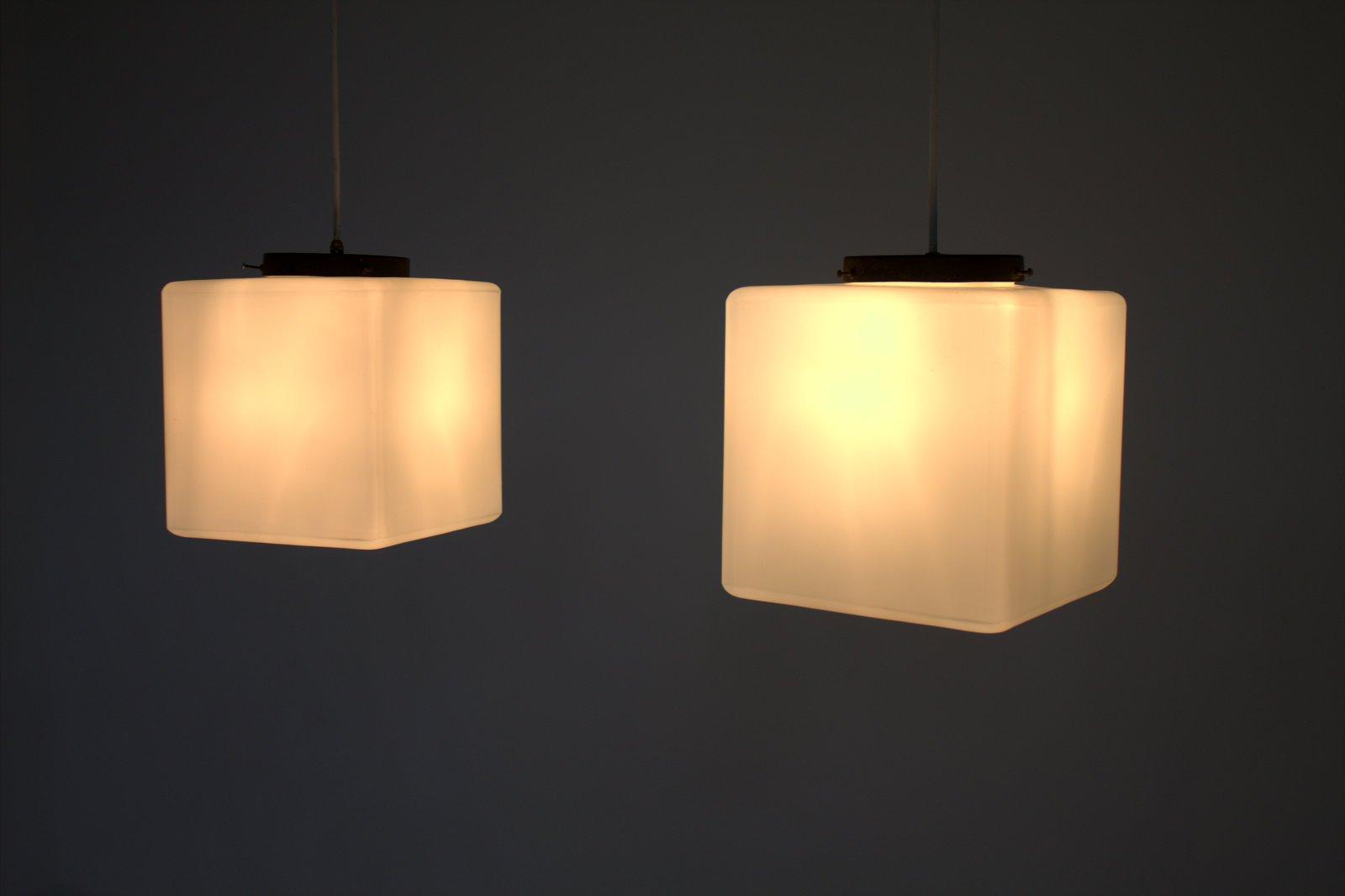 Italian milk glass cube pendant lamp from stilnovo 1960s for sale italian milk glass cube pendant lamp from stilnovo 1960s mozeypictures Gallery