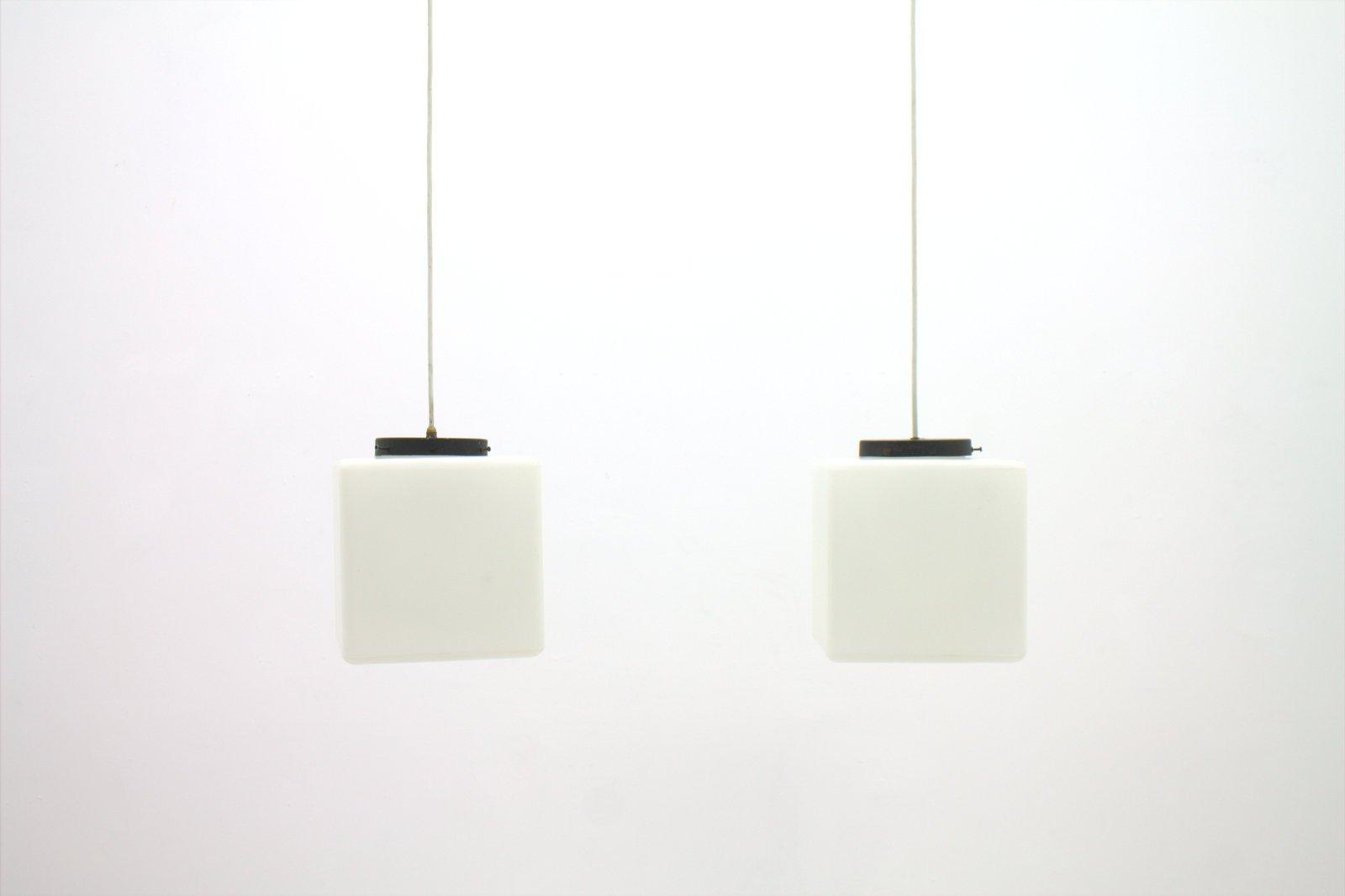 italian pendant lighting. Italian Milk Glass Cube Pendant Lamp From Stilnovo, 1960s Lighting O