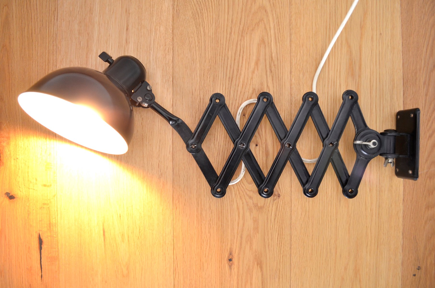 Vintage Bauhaus Scissor Lamp 6718 By Christian Dell For