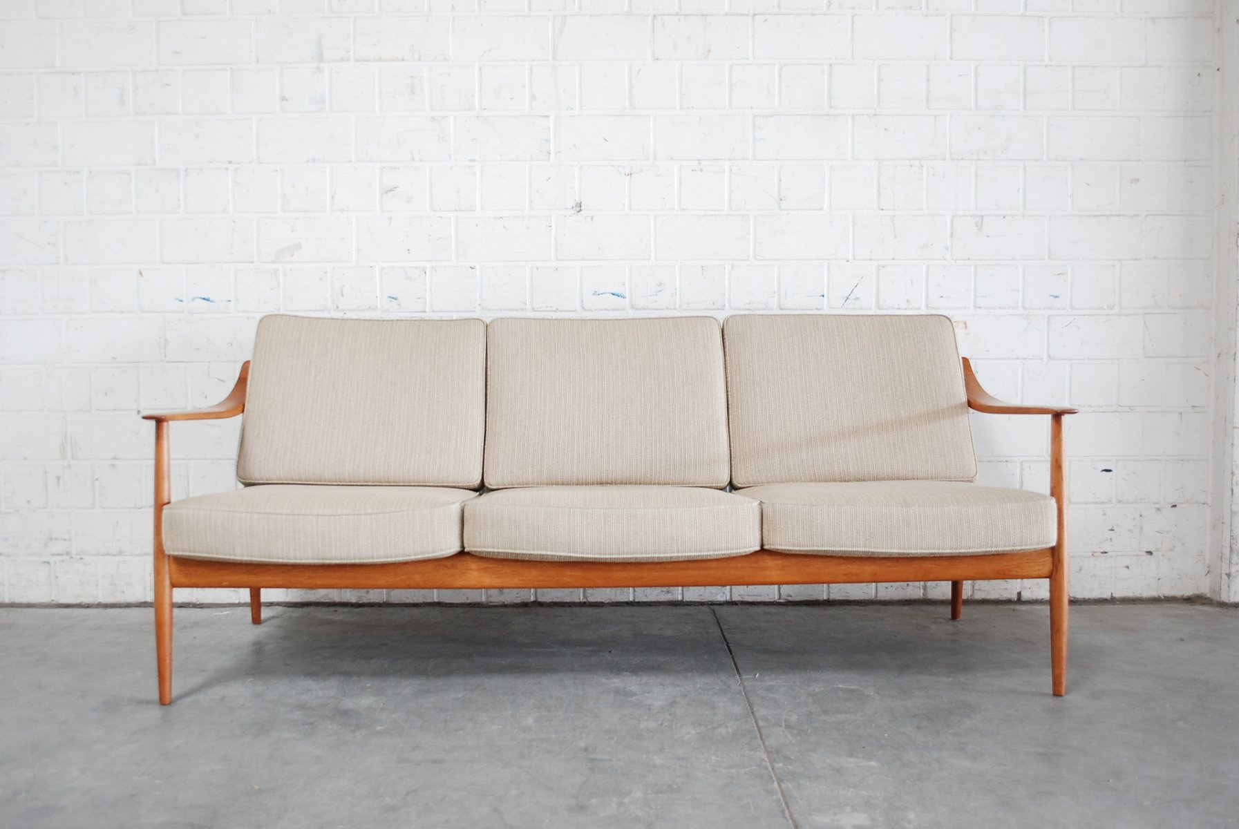 danish teak sofa by knoll antimott for sale at pamono. Black Bedroom Furniture Sets. Home Design Ideas