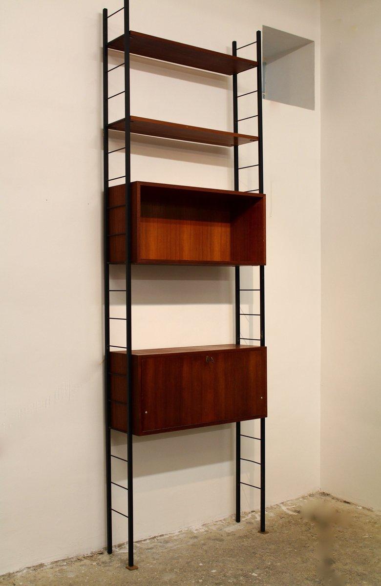 Libreria in teak a forma di scala con scrittoio, Austria, anni \'60 ...