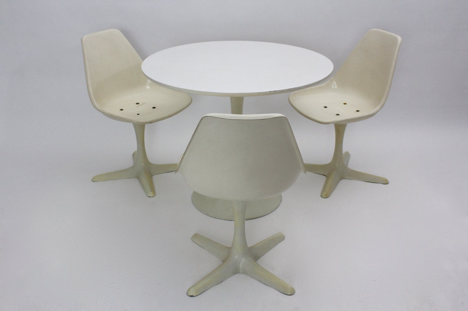 British Table And Chairs Dining Set By Maurice Burke For Arkana, 1960s, Set  Of 4
