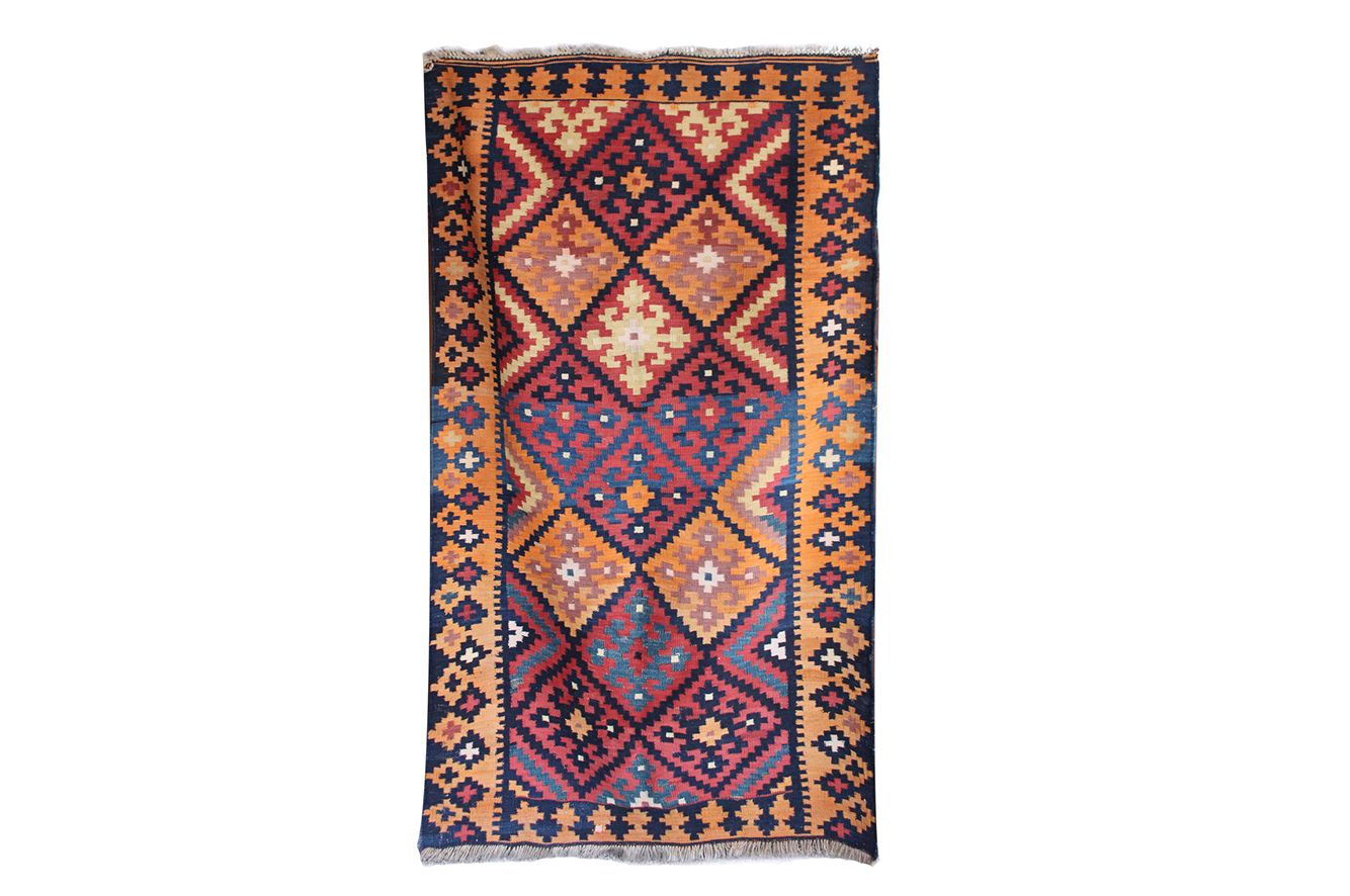 rugs blue turkish tribal sheherazade rug white home