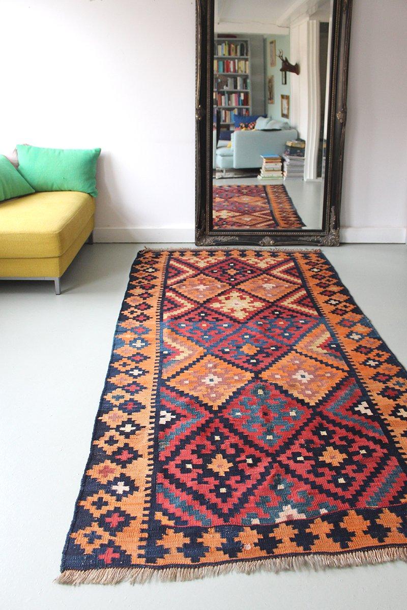vintage tribal flatweave kilim teppich 1940er bei pamono kaufen. Black Bedroom Furniture Sets. Home Design Ideas