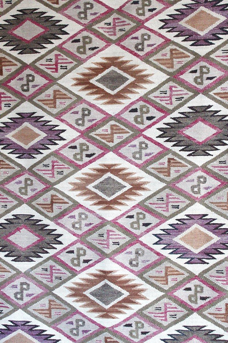 peruanischer vintage kilim teppich 1960er bei pamono kaufen. Black Bedroom Furniture Sets. Home Design Ideas