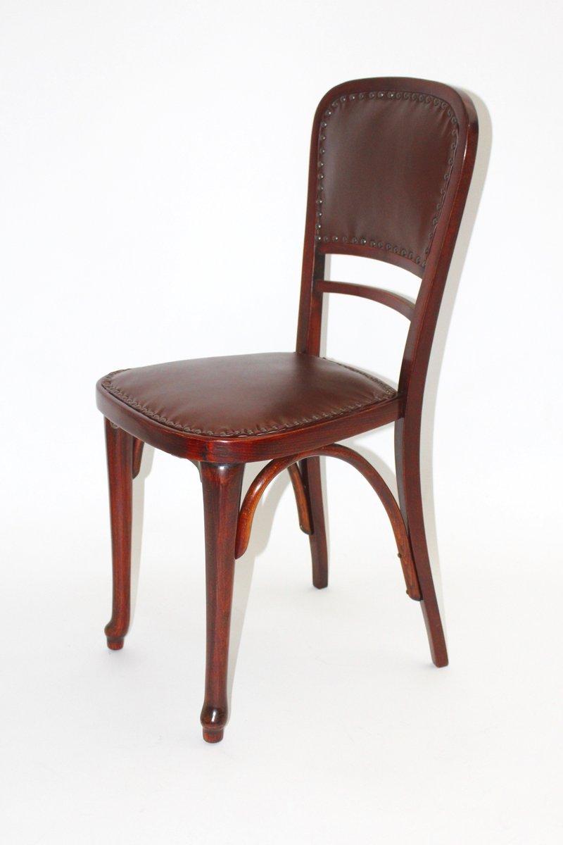sterreichischer modell nr 491 stuhl aus buche leder von thonet bei pamono kaufen. Black Bedroom Furniture Sets. Home Design Ideas