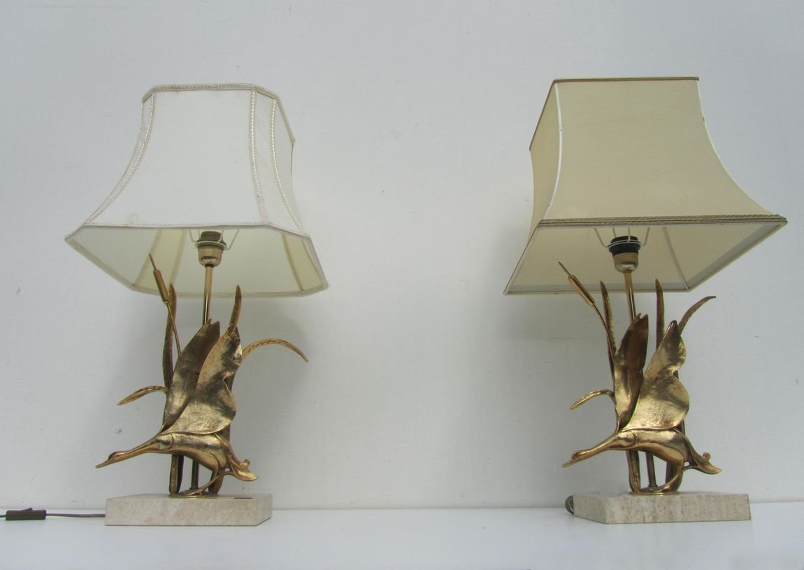 hollywood regency style furniture. Hollywood Regency Style Brass Duck Table Lamps From Lancia, 1970s, Set Of 2 For Sale At Pamono Furniture I