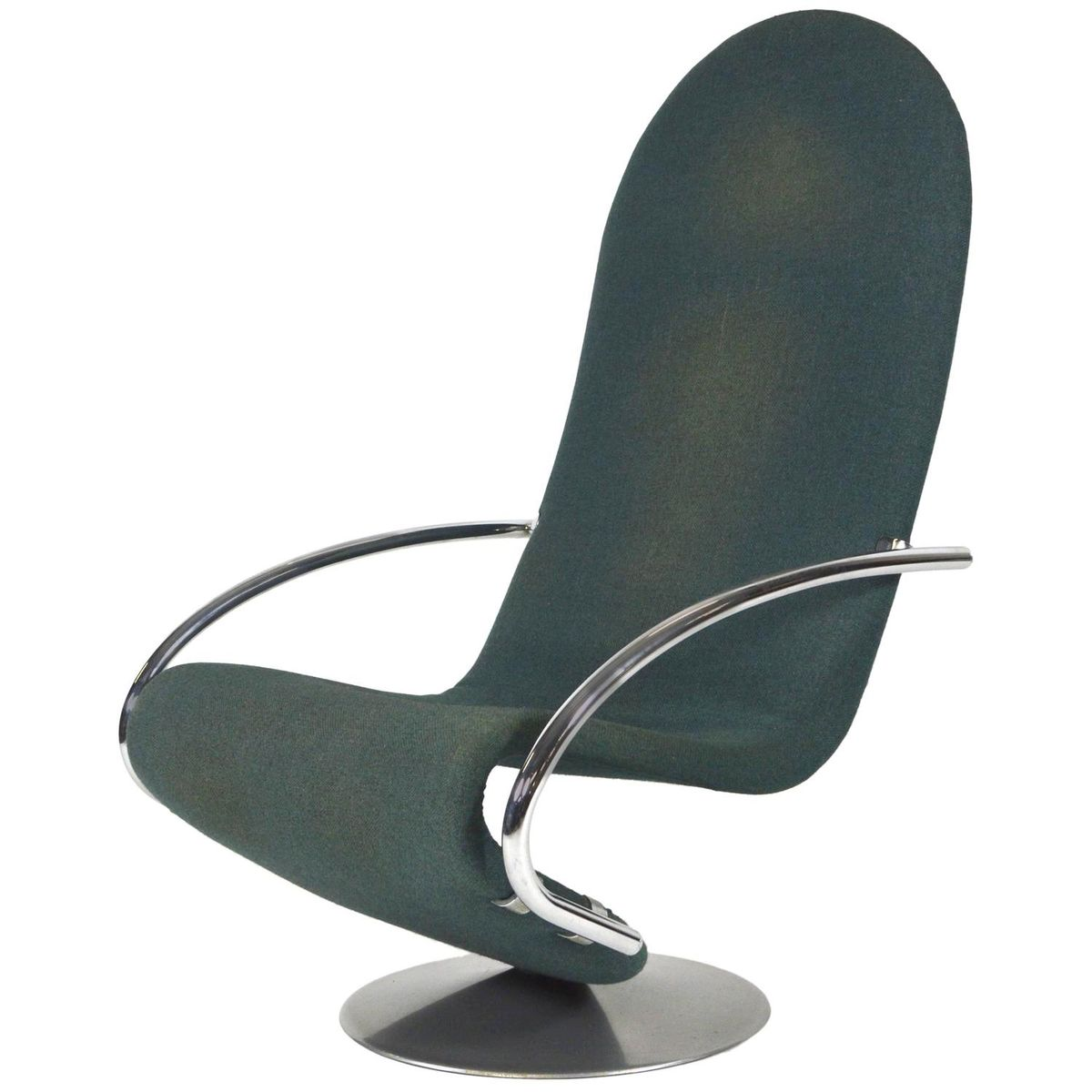 Danish 1 2 3 Swivel Lounge Chair By Verner Panton For Fritz Hansen, 1970s
