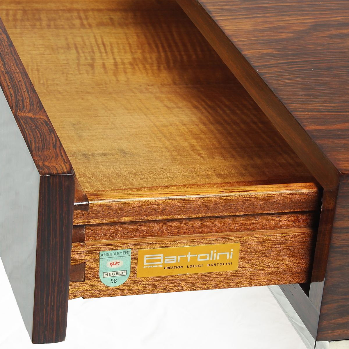 Table Basse En Palissandre Par Luigi Bartolini France 1960s En  # Palissandre Meuble