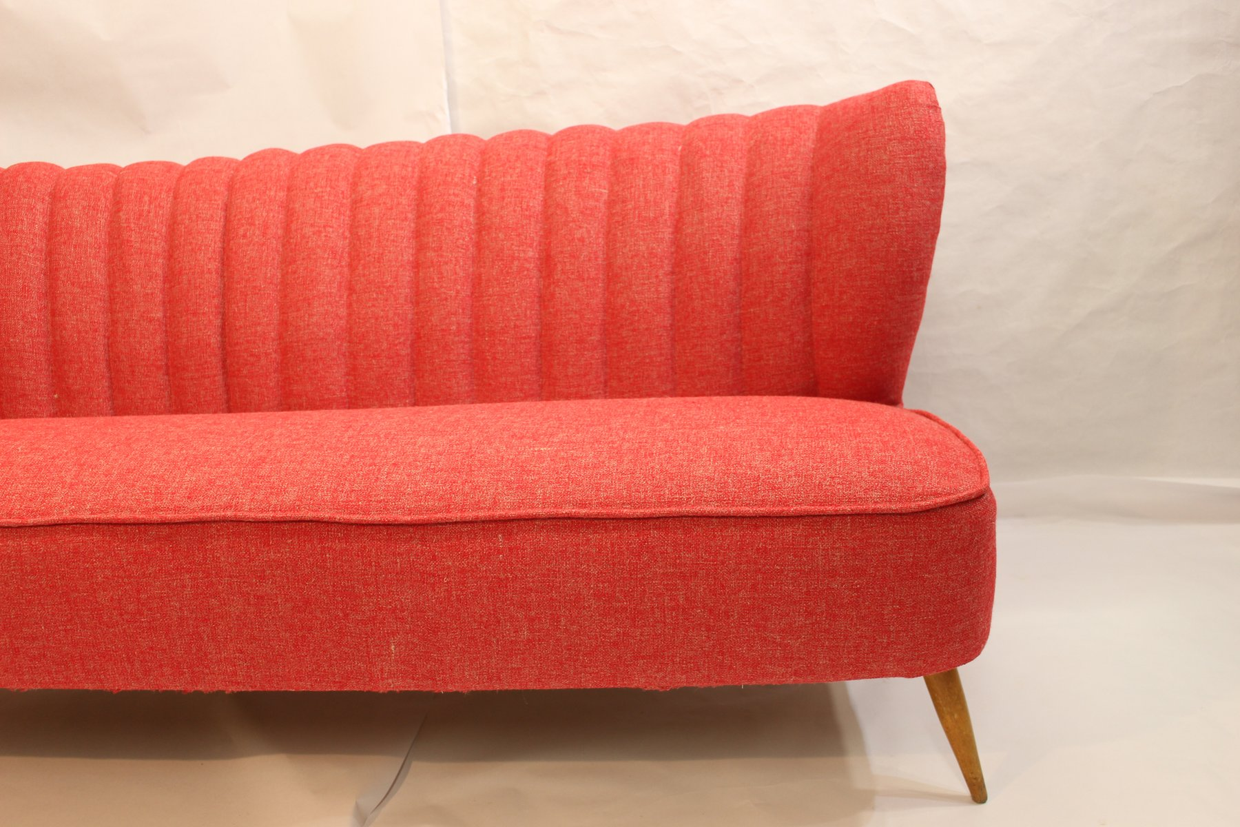 Vintage red 3 seater sofa for sale at pamono for Sofa 1 80 breit