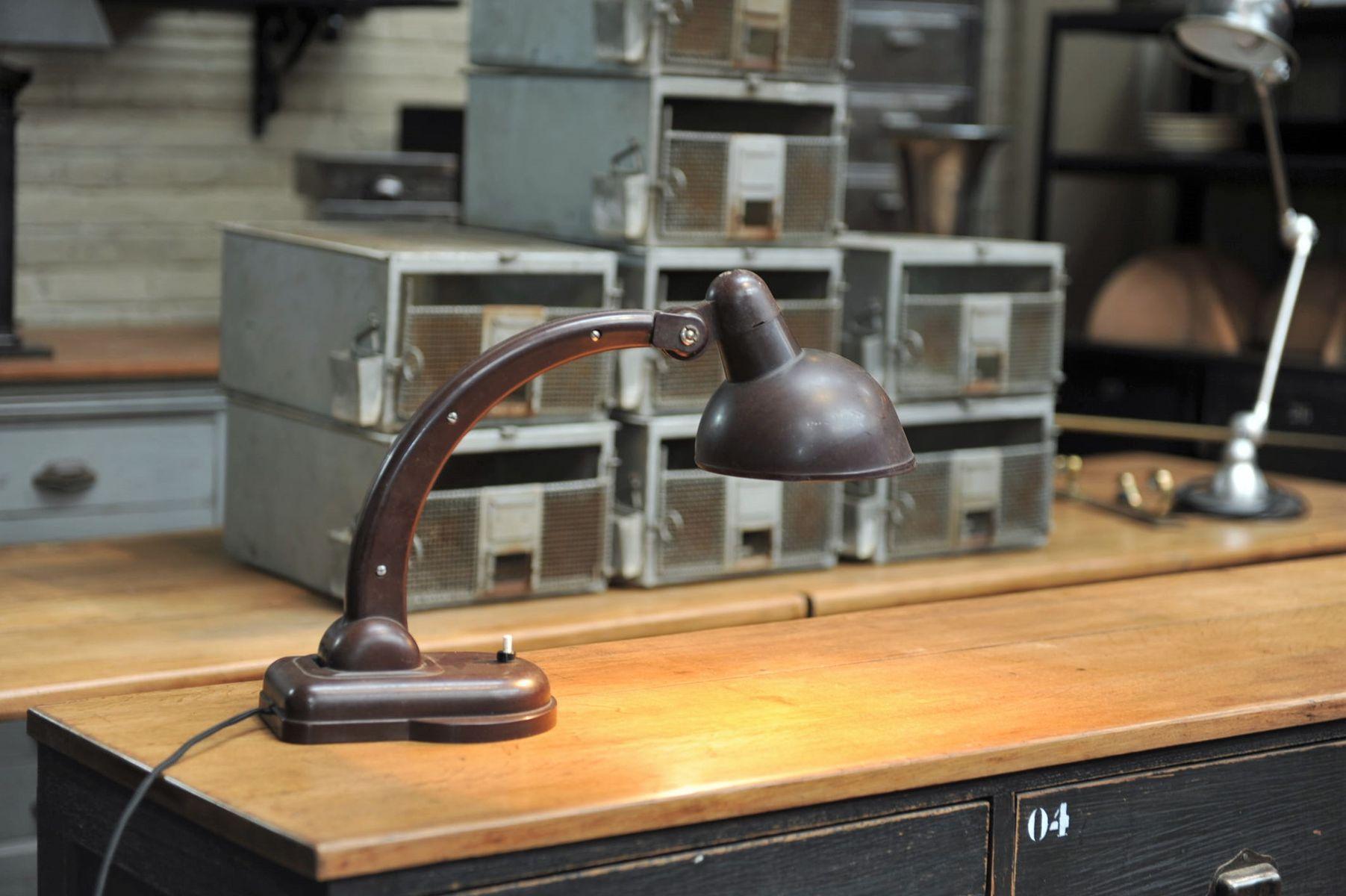 Lampe de bureau articul e en bak lite france 1930s en - Lampe de bureau articulee ...