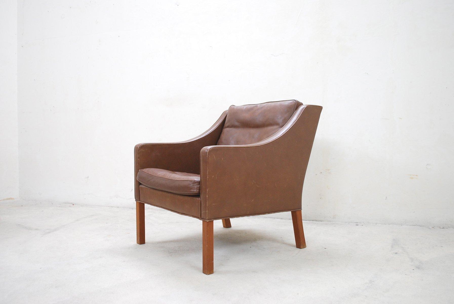 braune vintage 2207 lounge st hle von b rge mogensen f r. Black Bedroom Furniture Sets. Home Design Ideas