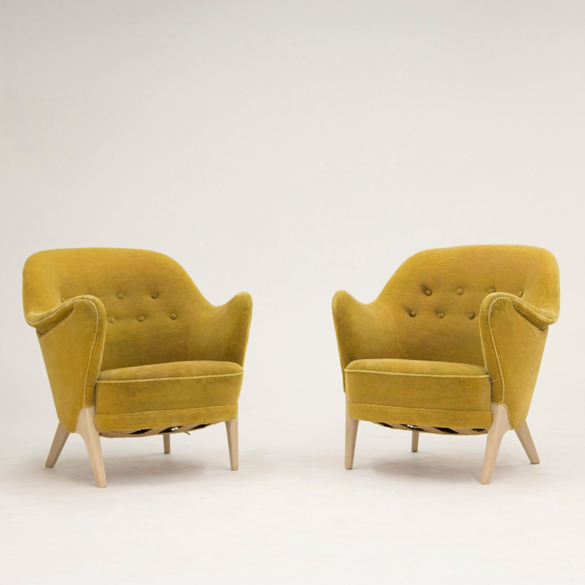 Danish Lounge Chairs By Arne Hovmand Olsen, 1950s, Set Of 2