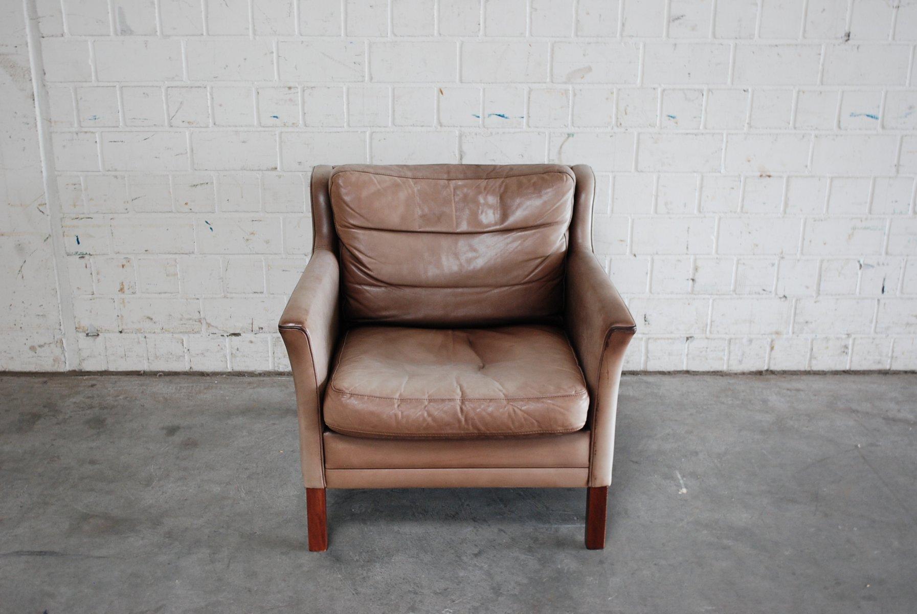 D nische sessel aus leder buchenholz 2er set bei pamono for Sessel aus leder