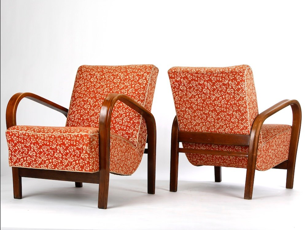 Vintage armchairs by krop ek and ku elka set of 2 for for 2 armchairs for sale