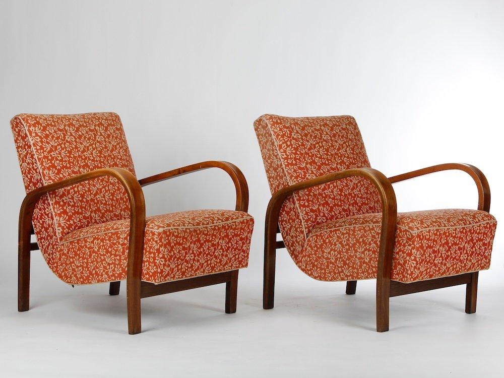 Vintage Armchairs By Kropáček And Kuželka, Set Of 2