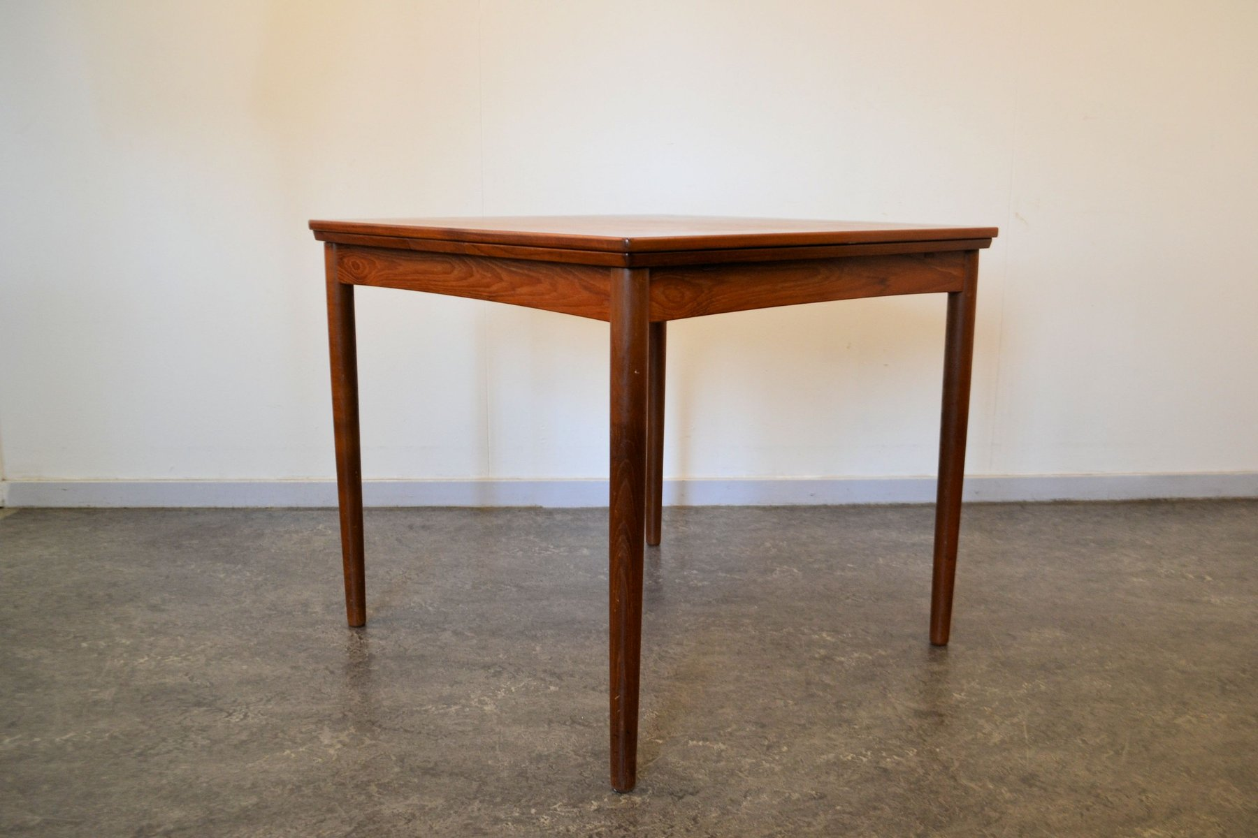 Great Vintage Danish Extendable Teak Dining Table By Poul Hundevad