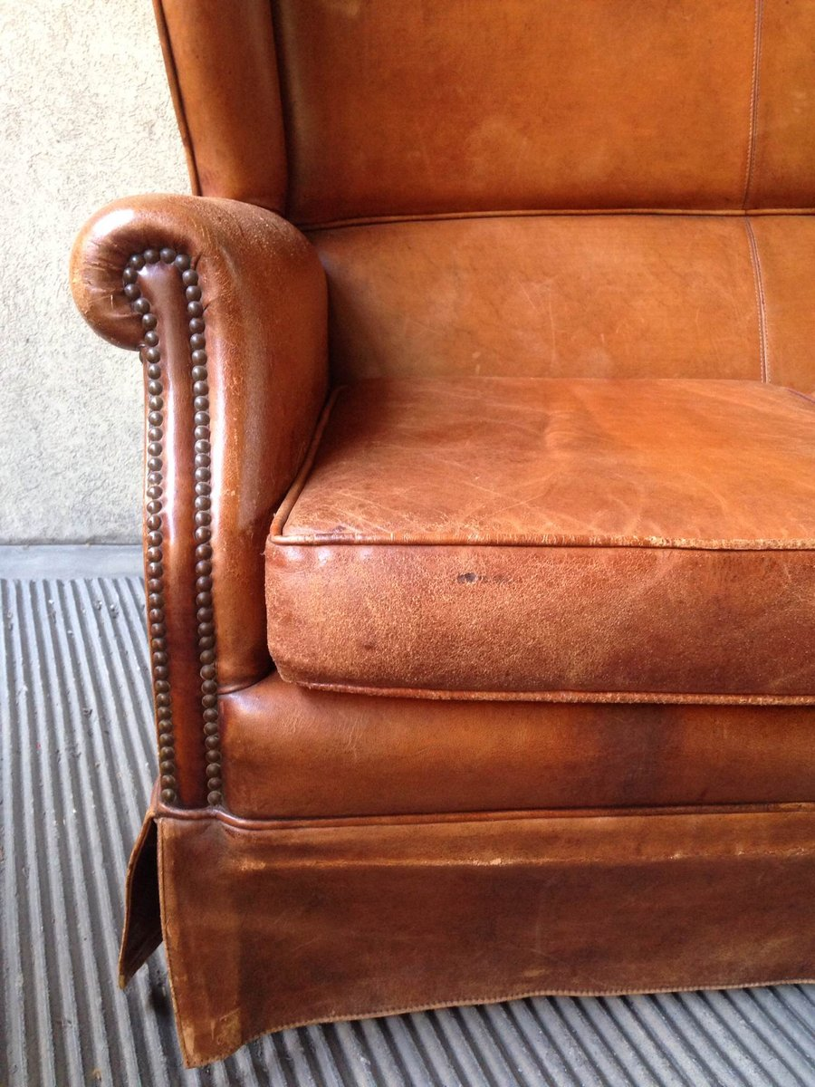 Leather living room set 1950s for sale at pamono for Leather living room sets on sale