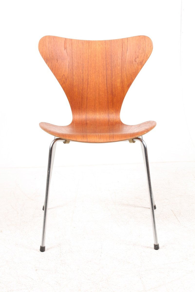 danish series 7 teak dining chairs by arne jacobsen for fritz hansen 1960s set of 6 for sale. Black Bedroom Furniture Sets. Home Design Ideas