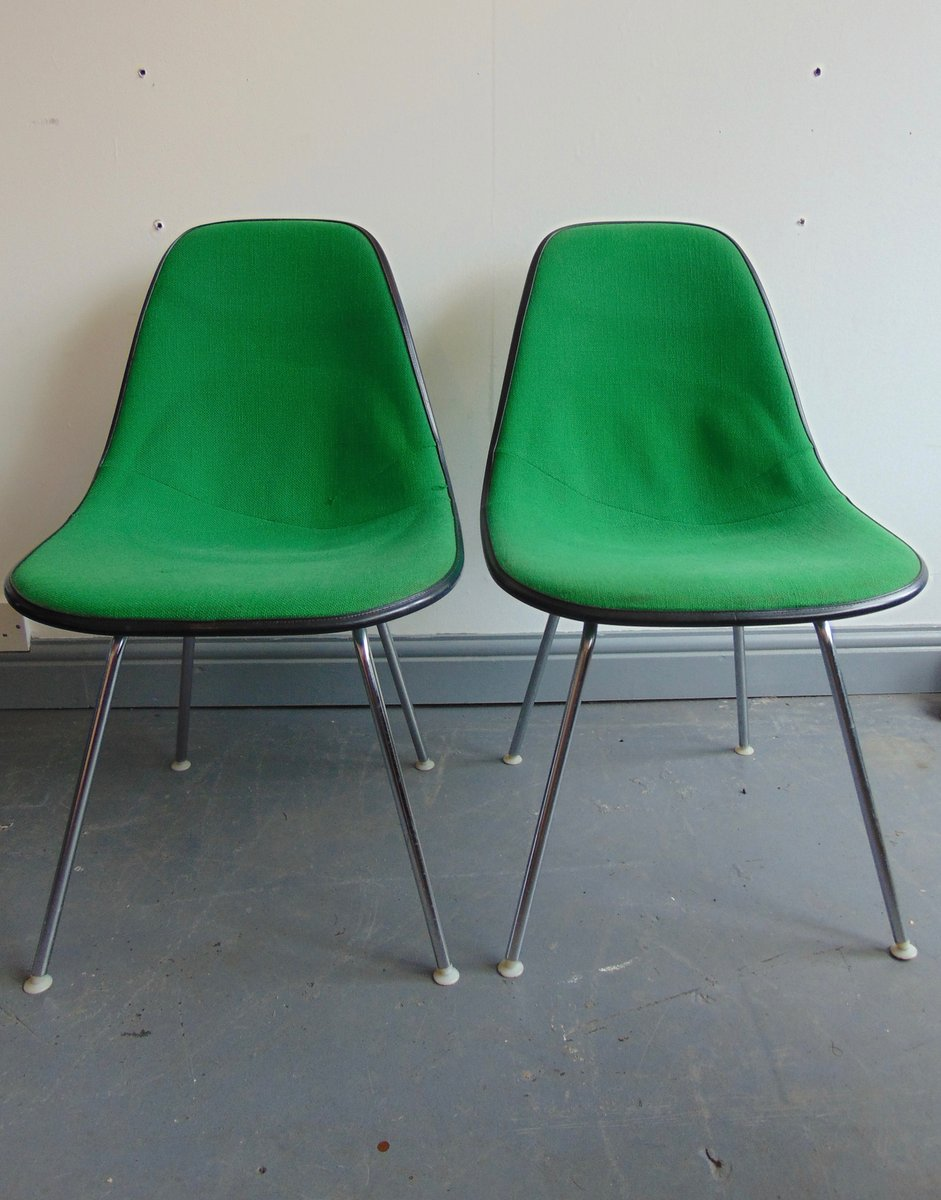 Vintage Green Side Chair By Charles And Ray Eames For Herman Miller