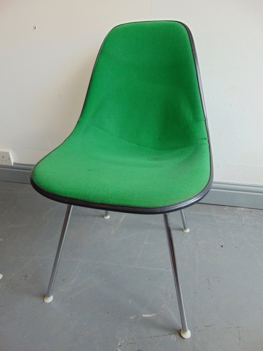 Amazing Vintage Green Side Chair By Charles And Ray Eames For Herman Miller