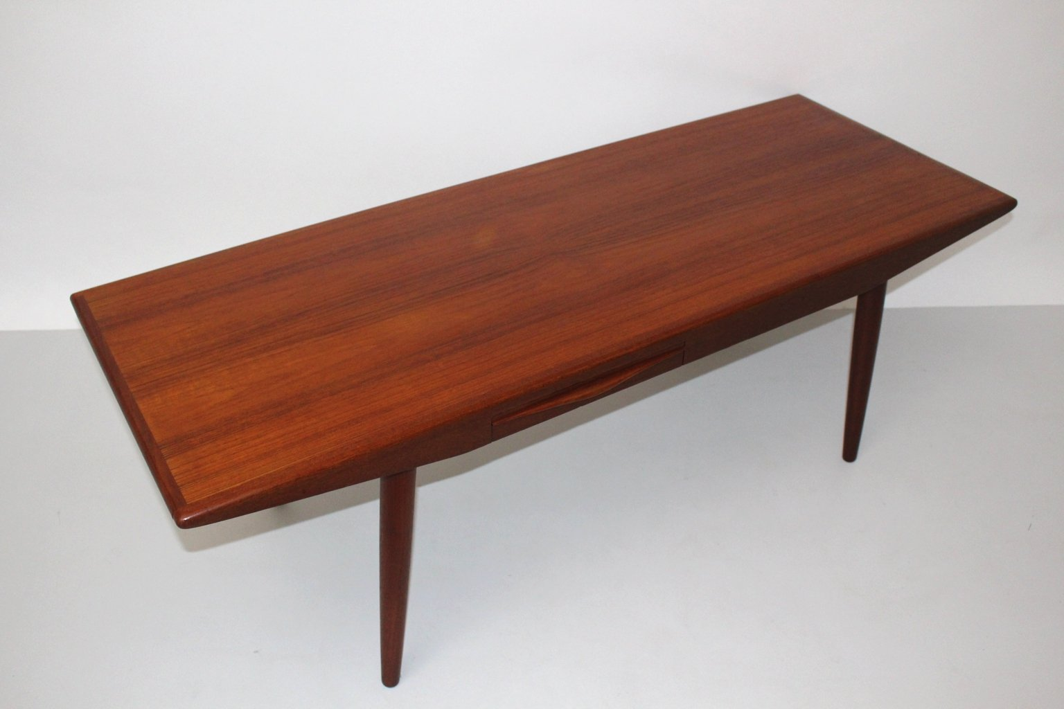 Danish Teak Coffee Table with Drawers by Johannes Andersen