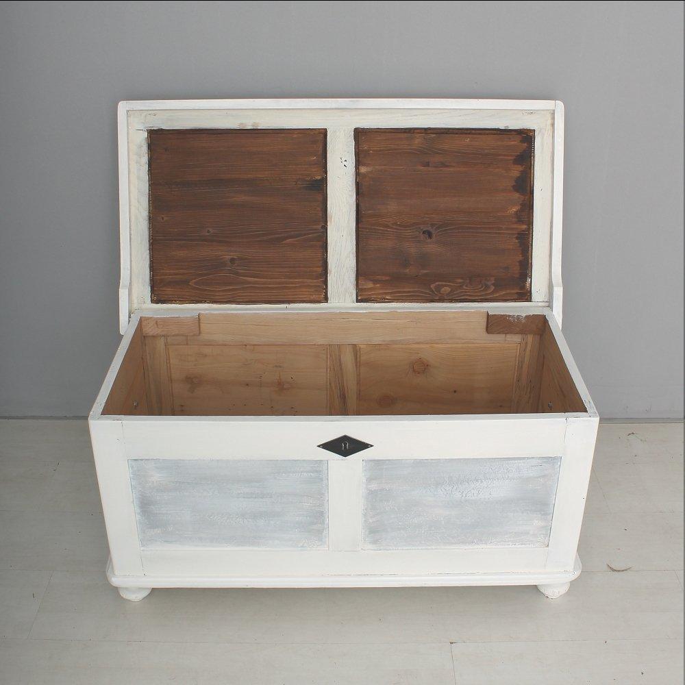 Baule in legno bianco, anni \'30 in vendita su Pamono