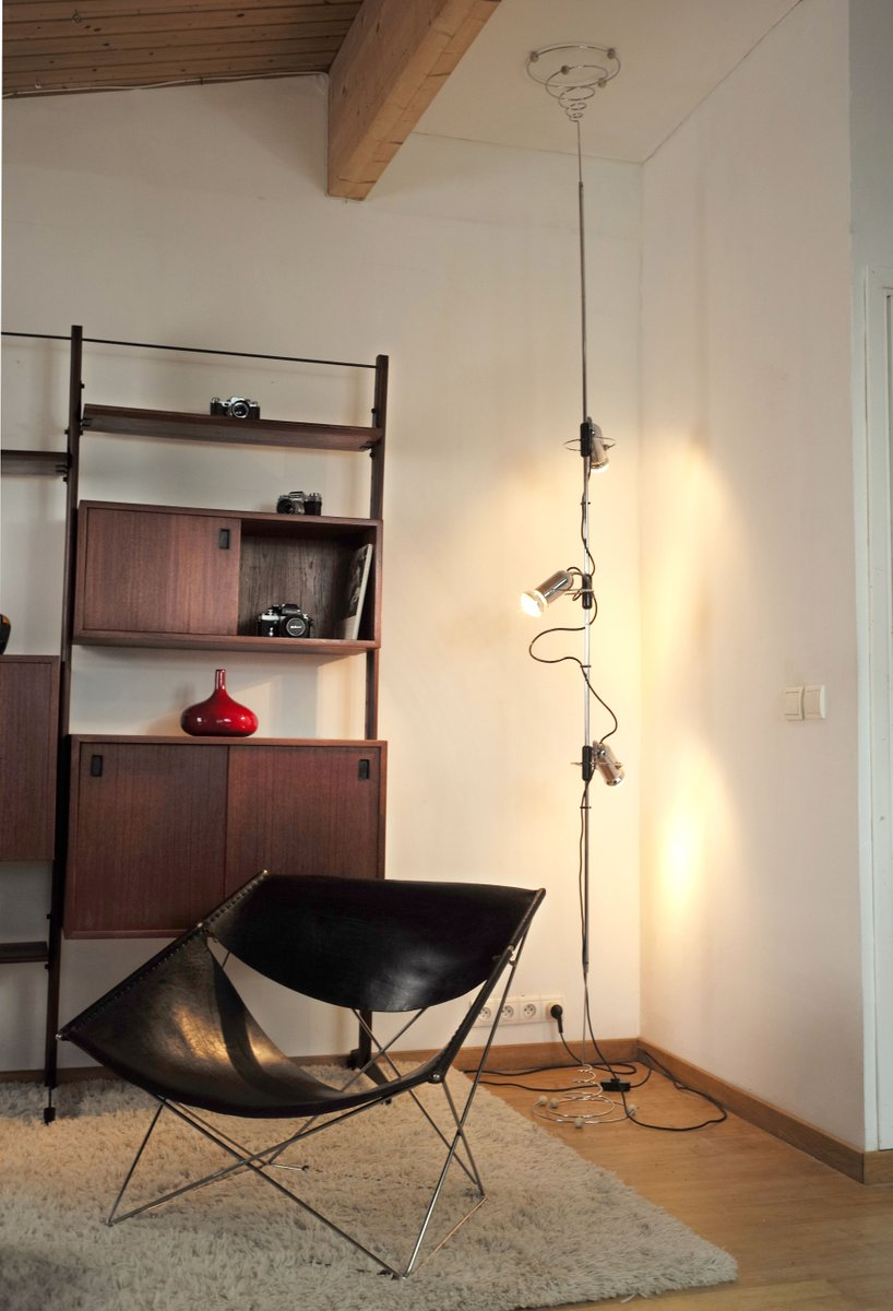 Floor To Ceiling Lamp By Francesco Fois For Reggiani 1960